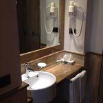 Granite and marble bathrooms.