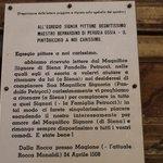 lettera di scuse del Pintoricchio