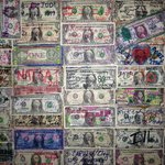 Dollars on the wall