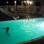 Pool is open at Night after Boardwalk Closes!
