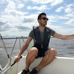 Sailing across the Bay to Arnside