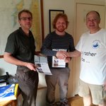 Award of certificates after 2-day sailing course