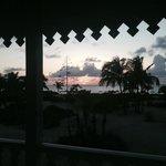 couché de soleil vu du balcon
