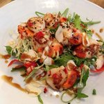 Garlic and chilli scallops.