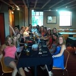 All of us at dinner at the brickhouse!