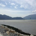 Looking into Howe Sound from the Squamish Spit.