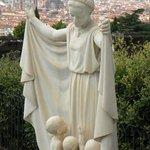 Blick vom Friedhof auf Florenz