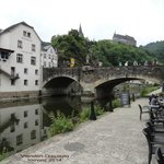 Vianden Castle from river Our