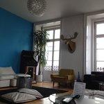 Hostel lounge on 2F
