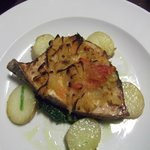 Swordfish dish.