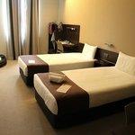 clean modern bedroom