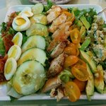 Cobb salad , beautiful and delicious !!