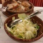 lechal y ensalada
