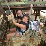 Repelling to the cenote!!