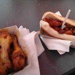 fried chicken and fried chicken sandwich
