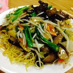 Deep Fried Noodles with Vegetables... Delicious!