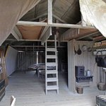 The Brothers ate, slept and worked in a shed like this for a number of years
