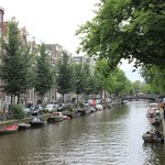 A canal on the edge of the Red Light District.