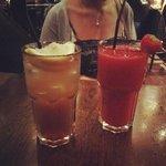 Long Island ice tea and Strawberry Daiquiri