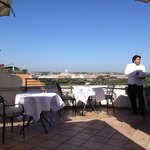 Rooftop breakfast.  The best view of Rome
