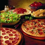 Limitless buffet pizza, pasta, salad bar, potato bar and dessert bar