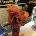 Crazy Bloody Mary in the pub!