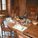 Salle où l'on a pris le petit déjeuner