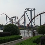 Diving coaster, 60 m heigh