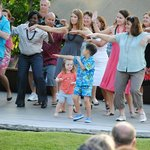 Learning how to hula at Fairmont Orchid Gathering Kings Luau