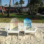 Cute chairs near the pool