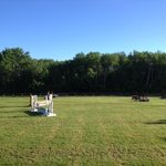 One of the large horse show fields - beautiful sky