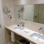 vue des vasques de la salle de bain