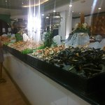 Seafood in the buffet