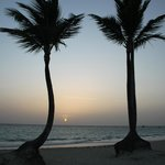 Dawn on the hotel's beach