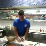 Hector making a delicious sandwich!