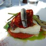 Kabeljauw met chorizo en ansjovis