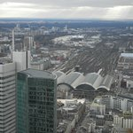 Vista estação de trem - Hauptbahnhof