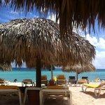 beach are and cabanas at IHD
