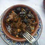 Tajine with goat meat and prunes