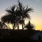 Sonnenuntergang, Blick von der Terrasse
