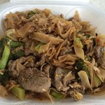 Phad Si-ew Beef ordered spicy