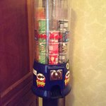 Pringles dispenser in the hallway