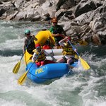 Heading into one of the rapids on the Payette River