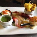 Degustazione di pesce del' mediterraneo