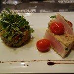 Blue marlin with quinoa salad
