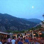 Buzz Bar at sunset, Babadag mountain providing an awesome backdrop!