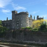 view of the Kilkenny castle from our balcony (view to the left)