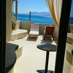 The balcony overlooking the sea