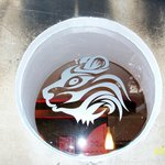 the Bengal Bear etched in glass