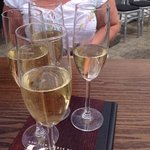 champagne in hospitality area for powerboat racing